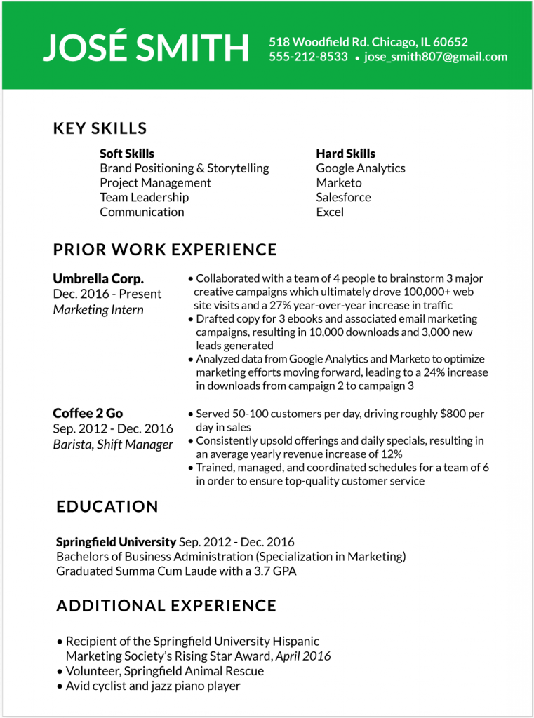 Multiple Current Jobs On Resume